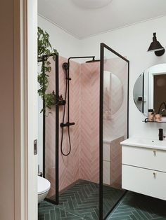 Bathroom tips, master bathroom renovation, bathroom decor and bathroom organizat. Bathroom tips, master bathroom renovation, bathroom decor and bathroom organization! Diy Bathroom Decor, Bathroom Interior Design, Home Interior, Decorating Bathrooms, Bathroom Modern, Simple Bathroom Designs, Bathroom Pink, Interior Ideas, Bedroom Decor