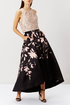 SAFFY PRINTED MIDI SKIRT + FRANKLES SEQUIN TOP | Bridesmaid Separates from Coast | SouthBound Bride