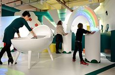 MATERNITY STORES! ABN AMRO shop in shop by Pronk. kids store design