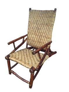 Old Hickory Prison made lean back lounge chair, Available, Christibys