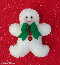 Galleta Blanca, Adorno de Arbol Navidad