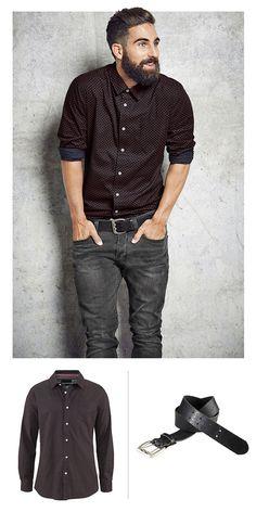 Ein Hemd für alle Fälle Das Hemd von Bruno Banani mit coolem Muster und kleiner…
