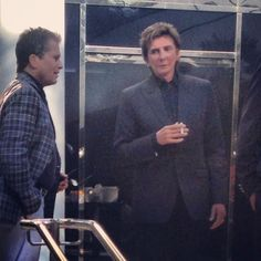 Marc Hulett personal assistant and his boss Barry Manilow.