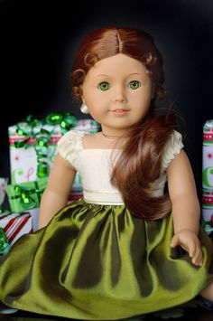 Christmas Dress by RoyalDollBoutique. Coveting the dress AND miss Felicity.