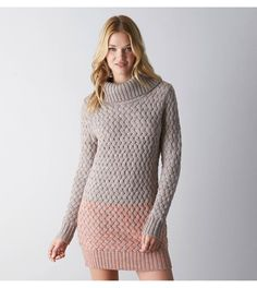 Heather Brown AEO Ombre Jegging Sweater Dress