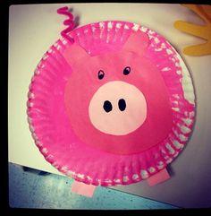 Paper plate pig Different size and color pp. | #kristenscrafts | Pinterest  sc 1 st  Pinterest & Paper plate pig Different size and color pp. | #kristenscrafts ...
