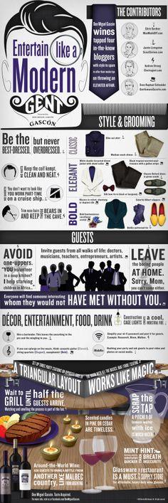 How to Entertain Like a Modern Gentleman [Infographic] (via @Chris Cote Cote Gardner)