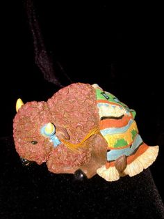 Friends of the Feather #285196 ENESCO Figurine~BISON BLESSING '97~NATIVITY PIECE