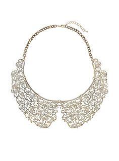Cream Collar Necklace Miss Selfridge Fashion Accessories, Fashion Jewelry, 2015 Trends, Parisian Style, Collar Necklace, Crochet Lace, Miss Selfridge, Collars, Jewelery
