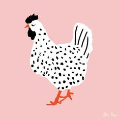 Speckled Hen - My list of beautiful animals Illustration Book, Chicken Illustration, Illustration Inspiration, Illustration Design Graphique, Inspiration Art, Art Inspo, Animal Illustrations, Character Illustration, Website Illustration