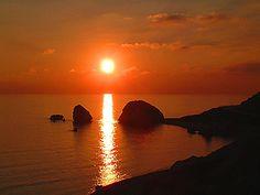 Sunset at Aphrodite's Rock, Paphos
