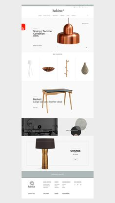 Redesign Ecommerce habitat This is a web design concept, I do not intend to promote the brand. All pictures are property of © habitat Web Layout, Layout Design, Minimalist Web Design, Design Living Room, Apps, Ui Design Inspiration, Design Ideas, Ui Web, Site Design
