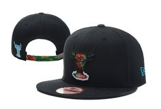 NBA Chicago Bulls Strapback New Era 9FIFTY Hats Black 867 604db05fdb8