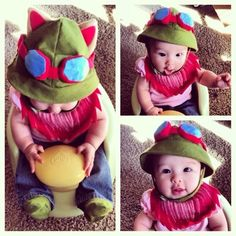 Crafters In Disguise: Baby Teemo League of Legends cosplay  ~ What's that, brain? You're going to melt out of my ears and pool somewhere safer? Yup. Sounds like a plan. This is too cute.