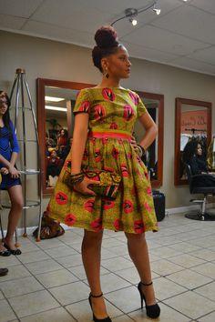 Stella Dutch Hollandais African print dress par LiLiCreations, $110.00