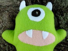 Plush Monster Stuffed Monster Custom Made by FranconiaRidgeStudio, $12.00