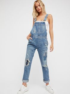 da9f714a028 Citizens of Humanity x Free People Quincey Denim Overalls at Free People  Clothing Boutique Denim Look