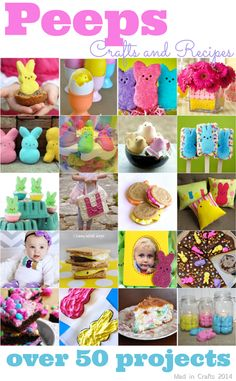 Over 50 Peeps Crafts and Recipes - Mad in Crafts