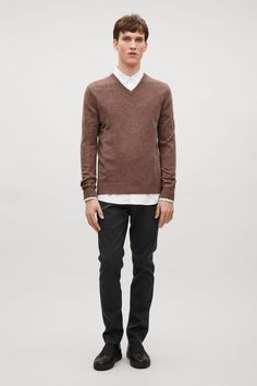 COS image 12 of Wool and yak jumper in Khaki Brown