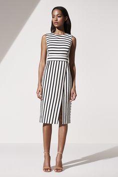 Simple Dresses, Dresses For Work, Summer Dresses, Vestidos Chiffon, Ann Taylor, Stripped Dress, Inspiration Mode, Moda Fashion, Curvy Fashion