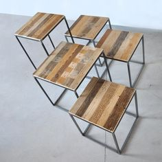 Wood Iron stools by Reverse.