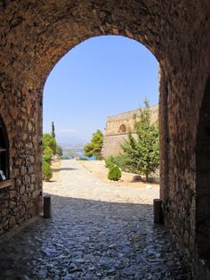 Entrance to #Palamidi Castle in #Nafplio, #Peloponnese, #Greece