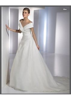 organza sexy v neck with rouched waistilne and a line skirt top seller 2010 new wedding dress wd 0069