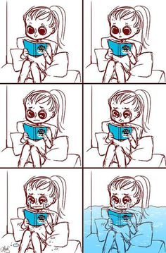 This is basically the process of reading The Fault in Our Stars. I just finished it for the first time. I put the book down fifteen minutes ago and I am still drowning in my tears