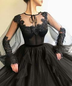 Black Long A-line Prom Dress, Long sleeves Modest Prom Gown The dresses . Black Long A-line Prom Dress, Long sleeves Modest Prom Gown Modest Prom Gowns, Prom Dresses Long With Sleeves, A Line Prom Dresses, Black Wedding Dresses, Ball Gown Dresses, Tulle Dress, Evening Dresses, Dress Long, Tulle Lace