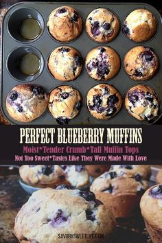 Jumbo Blueberry Muffin Recipe, Homemade Blueberry Muffins, Simple Muffin Recipe, Lemon Muffins, Blueberry Oatmeal Muffins, Blueberry Muffins Greek Yogurt, Frozen Blueberry Recipes, Best Muffin Recipe, Blueberry Breakfast