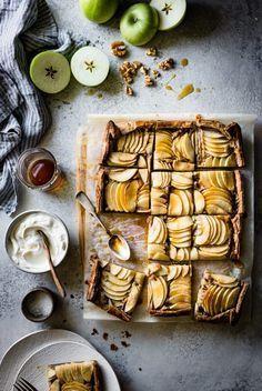 Buckwheat Apple Galette with Maple Walnut Frangipane {gluten-free, refined sugar-free} (The Bojon Gourmet) Tart Recipes, Sweet Recipes, Dessert Recipes, Bojon Gourmet, Gourmet Foods, Apple Galette, Fall Baking, Buckwheat, Flan