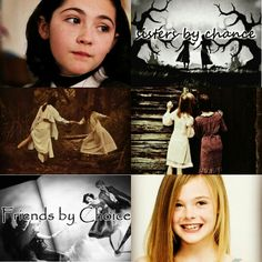 """I made this edit :) I got the quote from Liv and Maddie """"Sisters by Chance, Friends by Choice"""" and Isabelle Furhman and Elle Fanning are my two dream cast for sophie and agatha, that is if they were still babies like in the photo #theschoolforgoodandevil"""