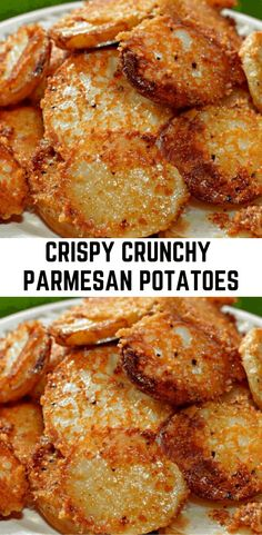 Side Dish Recipes, Vegetable Recipes, Vegetarian Recipes, Cooking Recipes, Potato Side Dishes, Vegetable Side Dishes, Parmesan Crusted Potatoes, Crispy Potatoes In Oven, Parmesan Potato Wedges