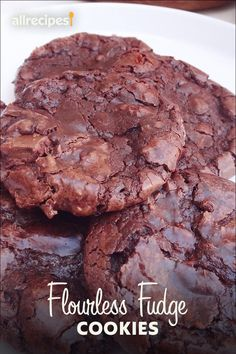 """Flourless Fudge Cookies 