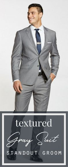 Textured Gray Suit | #menswear #mensfashion #menstyle #wedding #weddingideas #fatherofthebrideoutfit #father #of #the #bride #outfit #father #of #the #bride #outfit #winter