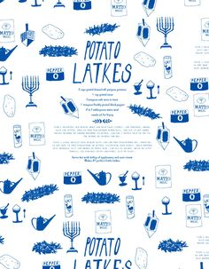 latke wrapping paper - awww