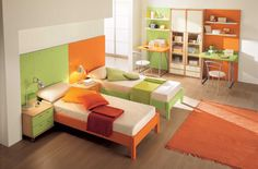 Modern Kids Rooms in Bright Color by Arredissima. My twin boys would LOVE this room!