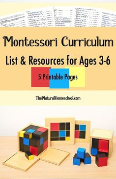 The Best Free Montessori Curriculum List {Printable} - The Natural Homeschool