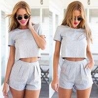 Wish | Women Two-Piece Set Playsuit Party Dresses Jumpsuit Romper Trousers Clubwear