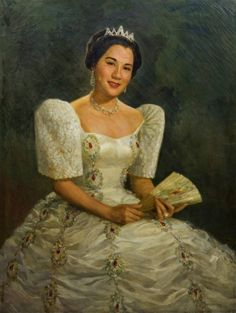 Fernando Amorsolo (Filipino of Sonia LimOil on canvas Signed and dated 1958 lower x on Mar 2017 Maria Clara Dress Philippines, Philippines Outfit, Philippines People, Philippines Culture, Philippines Fashion, Filipino Art, Filipino Culture, Traditional Art, Traditional Outfits