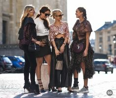 New Trending Street Style: #pfw #strassengerecht Girls Squad @camillecharriere @tamara.... #pfw #strassengerecht Girls Squad @camillecharriere @tamara @carodaur @ninasuess Picture by #strassengerecht