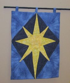 Bethlehem Star Christmas Quilted Wall Hanging by Quiltlane on Etsy, $29.00