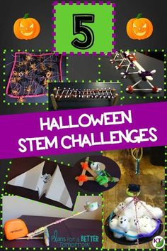 Halloween STEM Challenges: Looking for ways to keep your students engaged in learning before and after Halloween? These challenges require hands-on problem-solving, critical thinking, and cooperative work. Modifications available for grades 2 - 8. (Wings Wanted, Creature Catcher, Treat Toss, Bone Bridge, and Ghosts in the Graveyard)