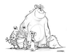 pixar Monsters Inc. concept art - Because I'm a nerd. (You know,the cool kind.)