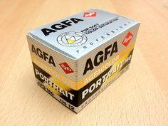 Agfacolor Portrait XPS 160 box. The expiry date is June, 1997.