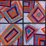 Artsonia Art Gallery - Concentric Shapes and Complementary Colors Elements And Principles, Elements Of Art, Color Art Lessons, Cool Art Projects, Project Ideas, 2nd Grade Art, Middle School Art, Art Lessons Elementary, Arts Ed