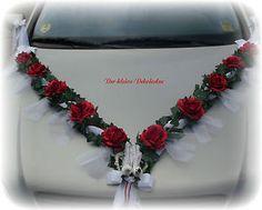 Autoschmuck  Autogirlande Hochzeit  mit Heckschmuck rot    eBay
