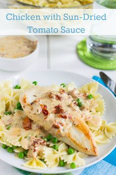 Chicken with Sun-dried Tomato Sauce #recipe #dinner