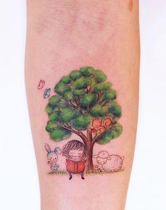 70 Best Unique And Minimal Colorful Tattoos - TheTatt Small Inspirational Tattoos, Colorful Tattoos, Most Popular Tattoos, Creative Tattoos, Tattoo Artists, Watercolor Tattoo, Tatting, Minimalism, Ink