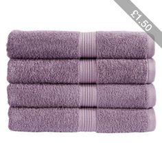 Christy Verona Towel - Foxglove